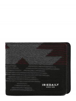 Iriedaily Peňaženka  antracitová / karmínovo červená / sivá melírovaná pánské XS-XXL