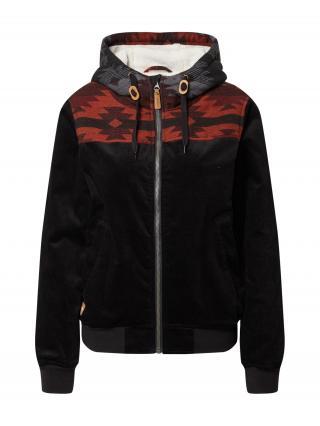 Iriedaily Prechodná bunda  čierna / červená dámské L