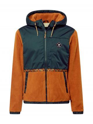 Iriedaily Prechodná bunda On Top Hood Jacket  gaštanová / petrolejová pánské S