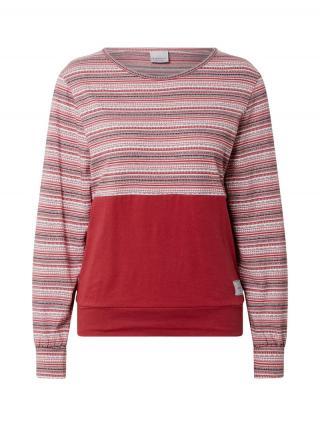 Iriedaily Tričko  biela / sivá / hrdzavo červená dámské S