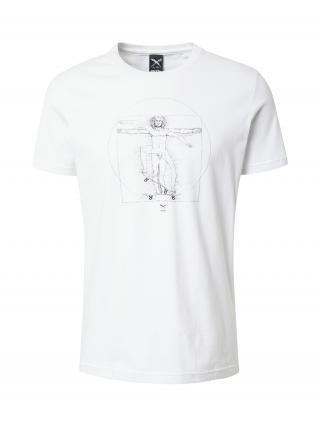 Iriedaily Tričko Skatevinci  biela / čierna pánské S
