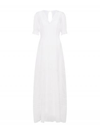 IVY & OAK Večerné šaty V-NECK BRIDAL CHIFFON DRESS  biela / čierna dámské 38