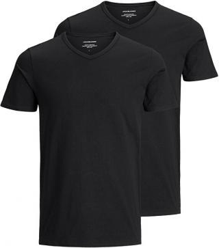 Jack&Jones 2 PACK - pánske tričko JACBASIC 12133914 Black M