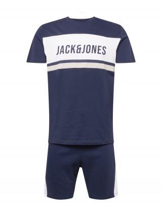 JACK & JONES Joggingová súprava  tmavomodrá / biela pánské XXL