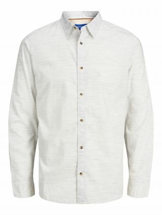JACK & JONES Košeľa  biela melírovaná pánské S