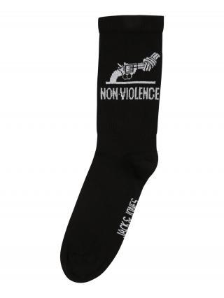 JACK & JONES Ponožky VIOLENCE  čierna / svetlosivá pánské 41-46