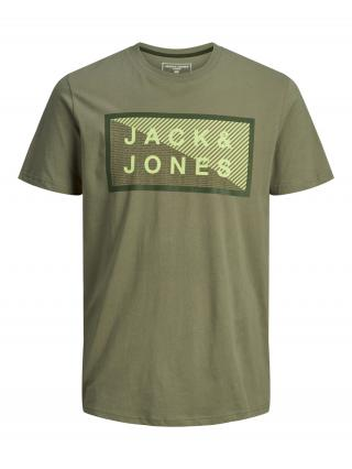 JACK & JONES Tričko  zelená pánské S