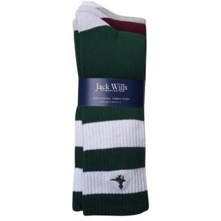 Jack Wills Readshaw 3 Pack Of Ribbed Socks pánské Other One