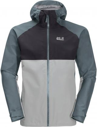 JACK WOLFSKIN Outdoorová bunda  sivá / svetlosivá / tmavosivá pánské XL