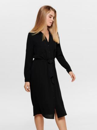 Jacqueline de Yong čierne košeľové šaty - M dámské čierna M