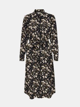 Jacqueline de Yong čierne košeľové šaty - XS dámské čierna XS
