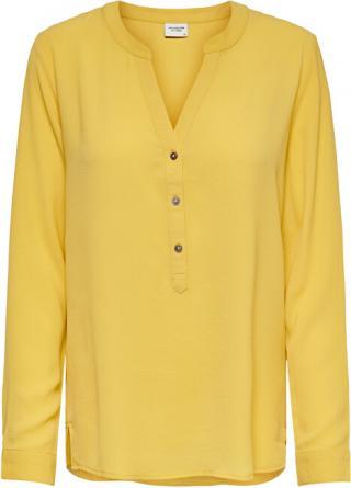 Jacqueline de Yong Dámska blúzka JDYTRACK L / S Blouse WVN Noosa Mist ed Yellow 36 dámské