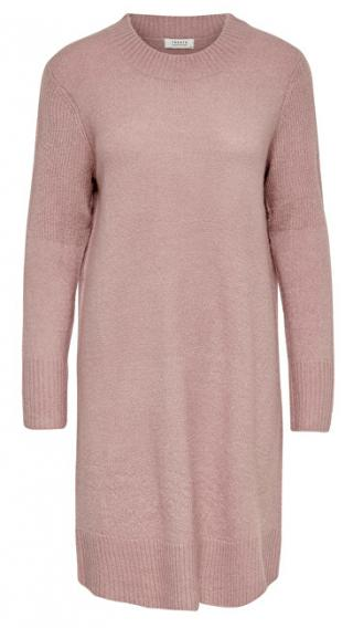 Jacqueline de Yong Dámske šaty JDYCREA Treats L / S Noosa DRESS KNT Wood rose S dámské