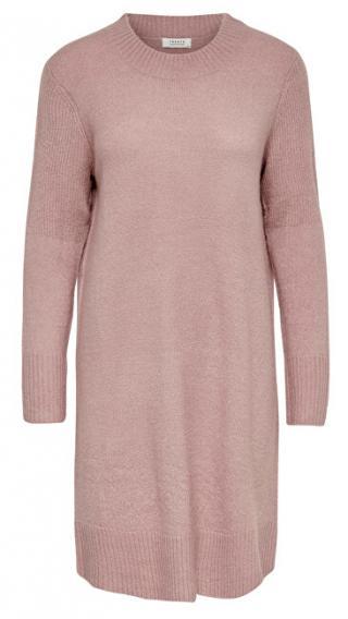 Jacqueline de Yong Dámske šaty JDYCREA Treats L / S Noosa DRESS KNT Wood rose XS dámské