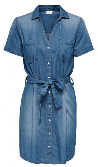 Jacqueline de Yong Dámske šaty JDYSAINT LIFE 15196698 Medium Blue Denim 42 dámské