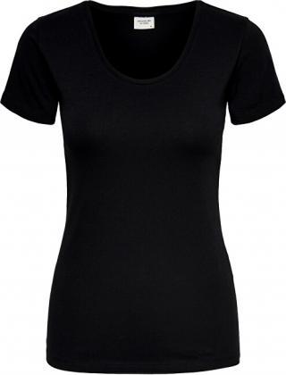Jacqueline de Yong Dámske tričko Ava Ss Top Jrs Noosa Black XS