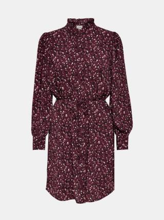Jacqueline de Yong fialové košeľové šaty so vzormi - M dámské fialová M