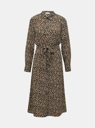 Jacqueline de Yong hnedé midi košeľové šaty - XS dámské hnedá XS