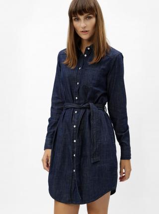 Jacqueline de Yong modré košeľové šaty Esra - S dámské modrá S