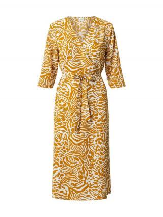 JACQUELINE de YONG Šaty  biela / horčicová dámské 34