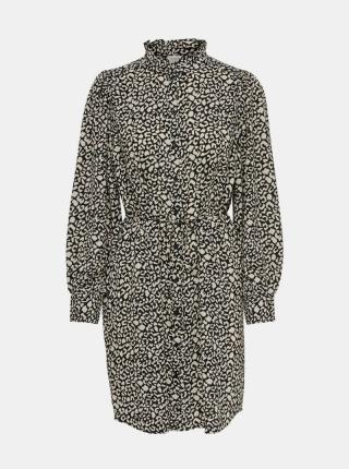 Jacqueline de Yong sivé košeľové šaty Milo - XS dámské sivá XS