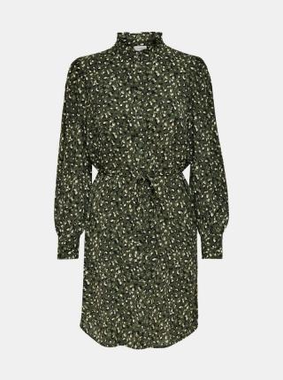 Jacqueline de Yong zelené košeľové šaty - XS dámské zelená XS