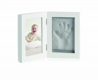 JANÉ Dvojrámik fotka   odtlačok ruky/nohy White
