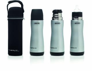JANÉ Fľaša nerezová termo s cumľom a termo obalom, 300 ml