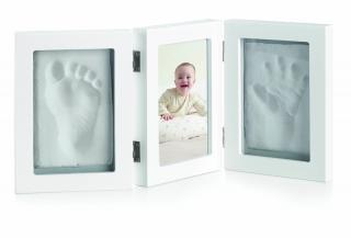 JANÉ Trojrámik fotka   odtlačok ruky/nohy White