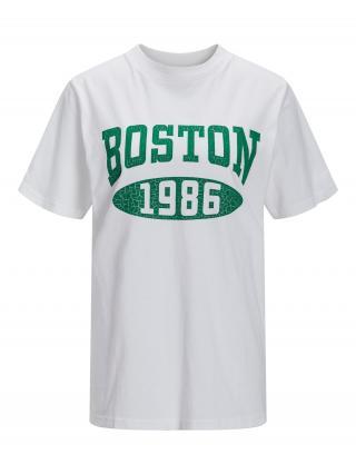 JJXX Tričko JXBEA  biela / zelená dámské M