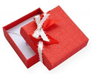 JK Box Červená darčeková krabička s mašličkou GS-5 / A7