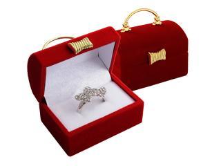 JK Box Darčeková krabička na prsteň alebo náušnice Kabelka FU-98 / A7