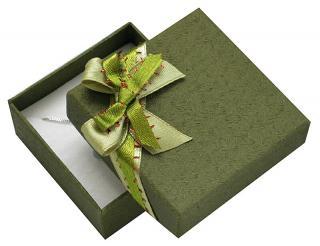 JK Box Zelená darčeková krabička s mašľou GS-5 / A19
