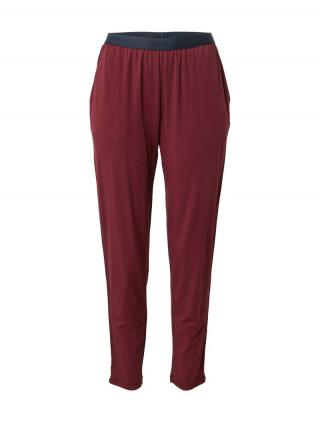 JOOP! Bodywear Pyžamové nohavice  vínovo červená / námornícka modrá dámské XS