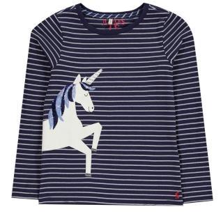 Joules Ava Unicorn Stripe T-Shirt dámské Other 5 Yrs