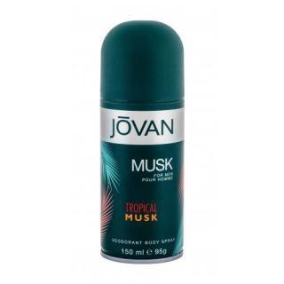 Jovan Tropical Musk 150 ml dezodorant pre mužov deospray pánské 150 ml