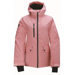 JULARBO - ECO dámská zateplená lyžařská bunda - růžová Neurčeno 42