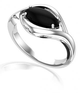 JVD Výrazný strieborný prsteň s onyxom SVLR0348SH8BL 55 mm dámské