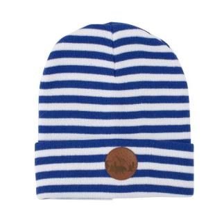 Kabak Unisexs Hat Beanie Cotton White/Blue-70179Kd Stripes dámské One size