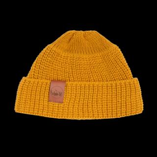 Kabak Unisexs Hat Short Thick Knitted Cotton Mustard-2012K dámské Yellow One size