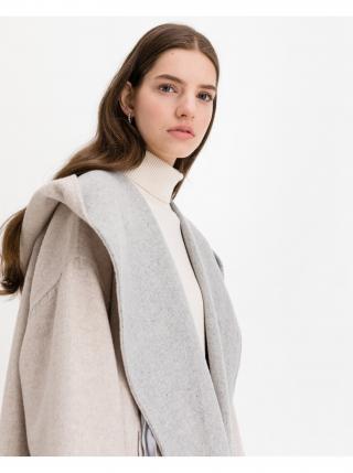 Kabáty pre ženy French Connection - sivá, béžová dámské L