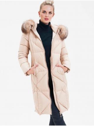 Kabáty pre ženy KARA - krémová dámské S