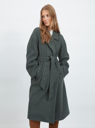 Kabáty pre ženy VILA - tmavozelená dámské XS