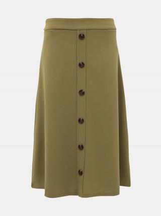 Kaki midi sukňa Jacqueline de Yong Bellis dámské S