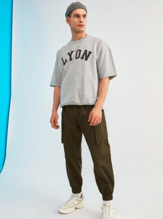 Kaki pánske nohavice s vreckami Trendyol pánské L