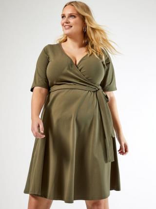 Kaki šaty Dorothy Perkins Curve dámské 52