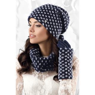 Kamea Womans Snood K.18.831.12 Navy Blue dámské One size