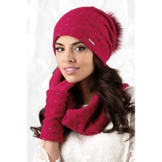 Kamea Womans Snood K.18.862.20 Raspberry dámské Pink One size