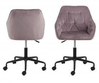 Kancelárska stolička Brooke Ružová