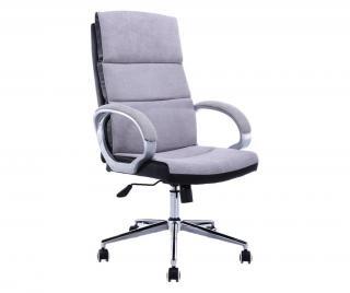 Kancelárska stolička Sivá & Striebristá